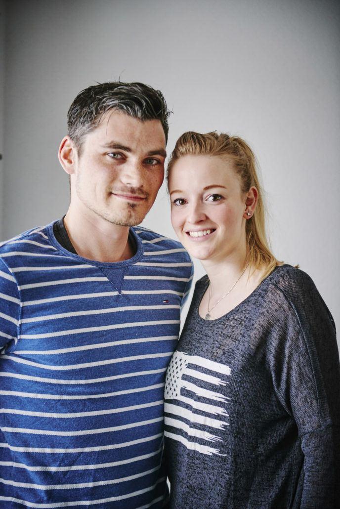 Martijn met zijn vriendin Mascha.