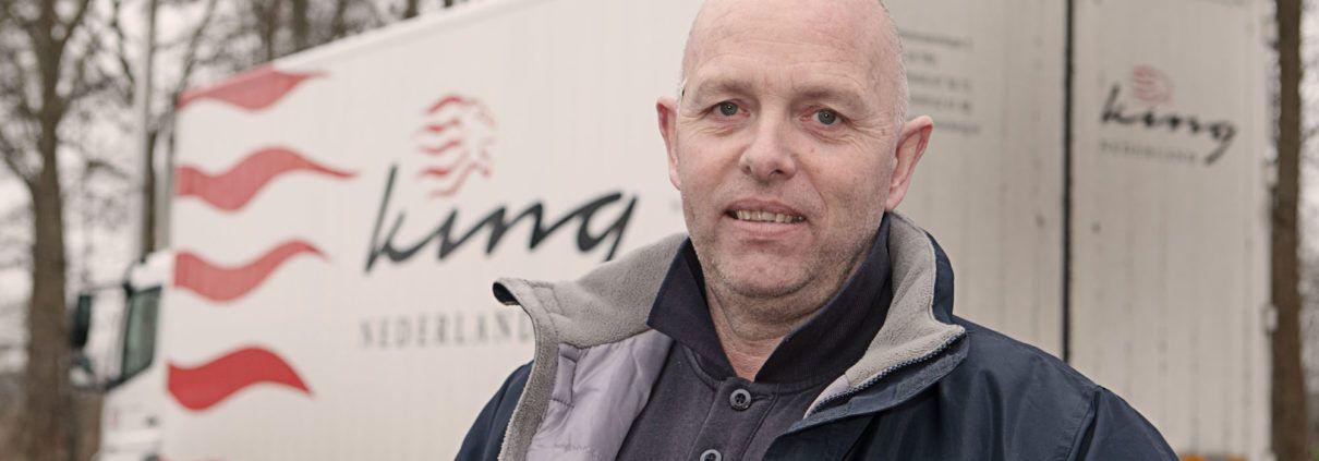 Op de parkeerplaats over waardering: Chauffeur Wim van Zeten (49)
