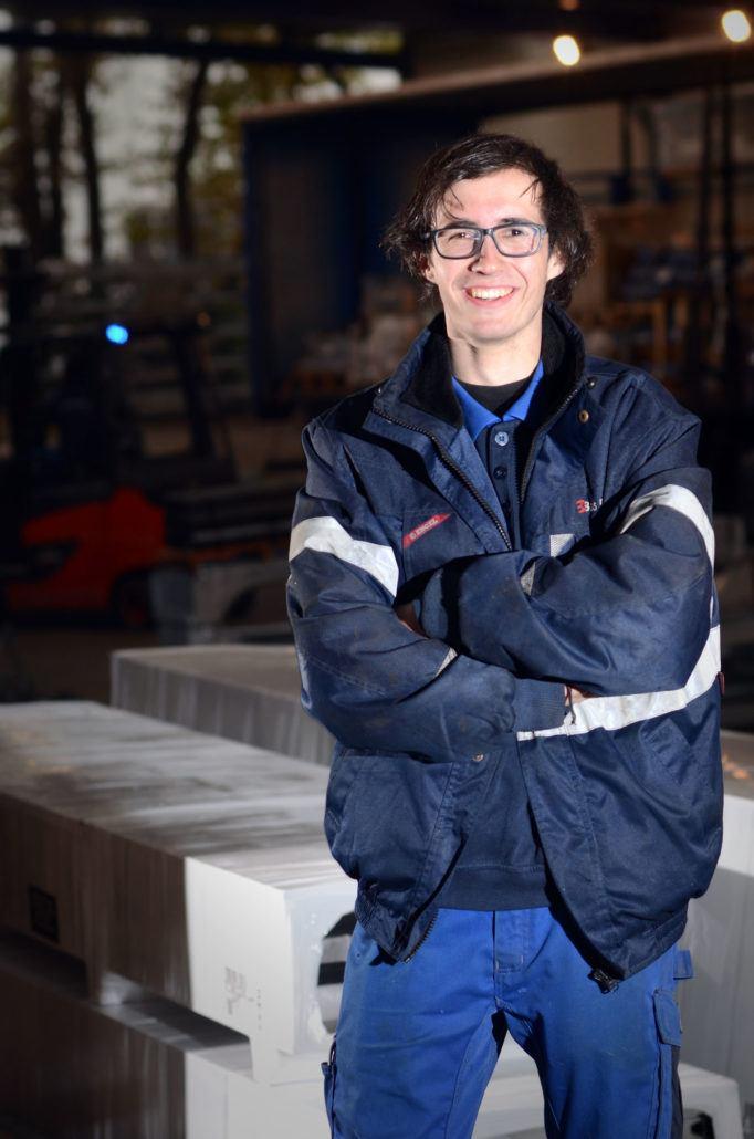 """Timon Joosten: """"Ik wil veel van het bedrijf proeven en leren""""."""