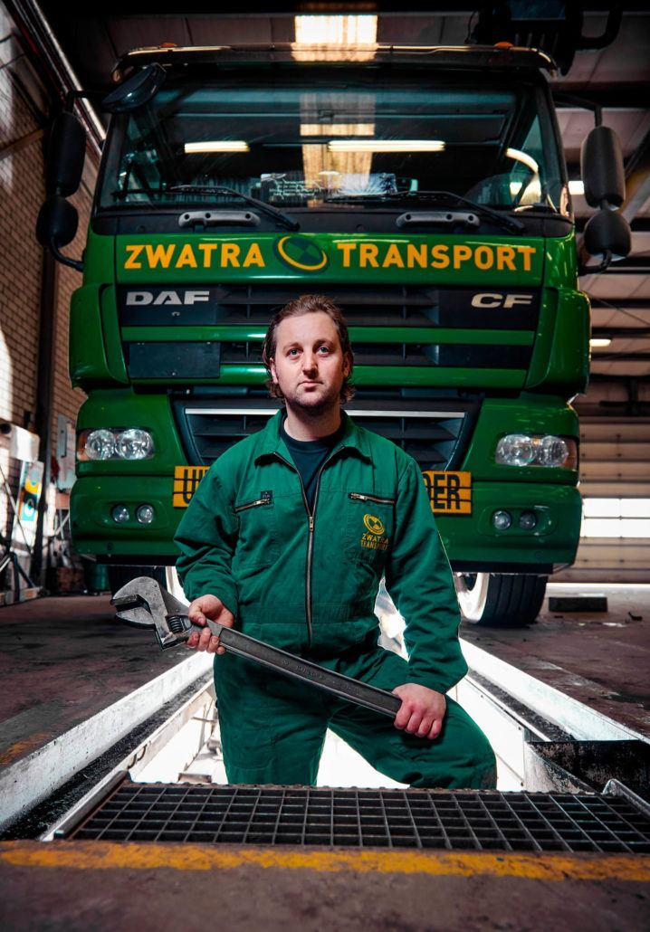 Wesley Verburg, Monteur Zwartra Transport
